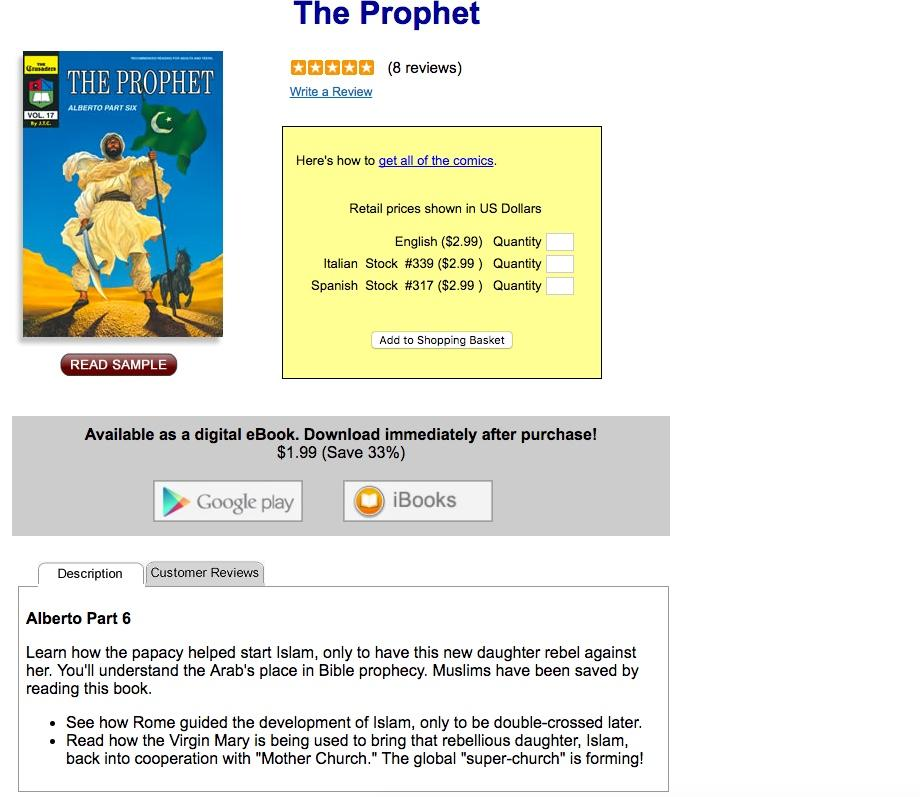 An Islam comic that is sold by Chick Publications.(Screenshot via Chick Publications)