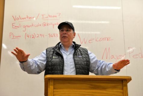 Peduto discusses local, national politics on campus