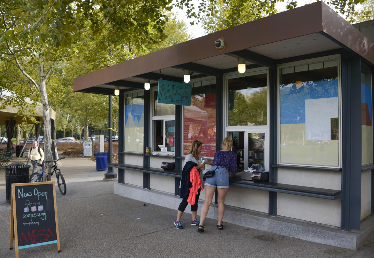 Mesa is now open in Schenely Plaza, replacing Conflict Kitchen. (Photo by Wenhao Wu | Assistant Visual Editor)