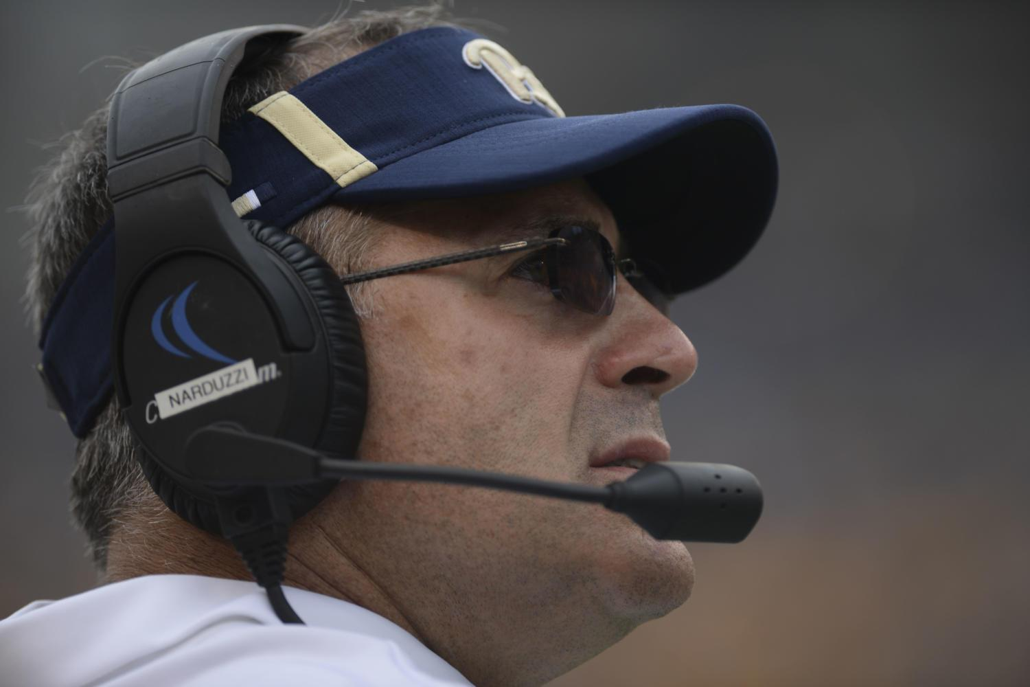 Pitt head coach Pat Narduzzi cohosts his radio show Thursdays at 6 p.m. with Bill Hillgrove. (Photo by Anna Bongardino | Assistant Visual Editor)
