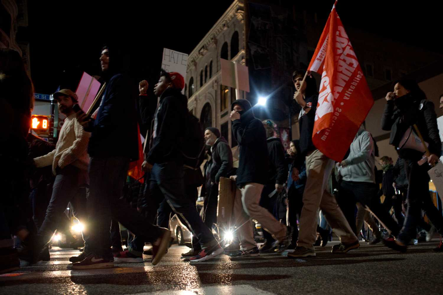 Students protest against student debt last November. (Photo by John Hamilton | Managing Editor)