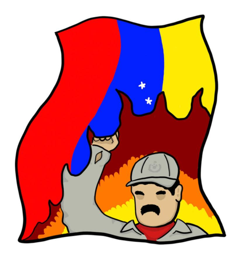 Venezuela is in dire situation under President Nicolas Maduro. (Illustration by Liam McFadden | Staff Illustrator)