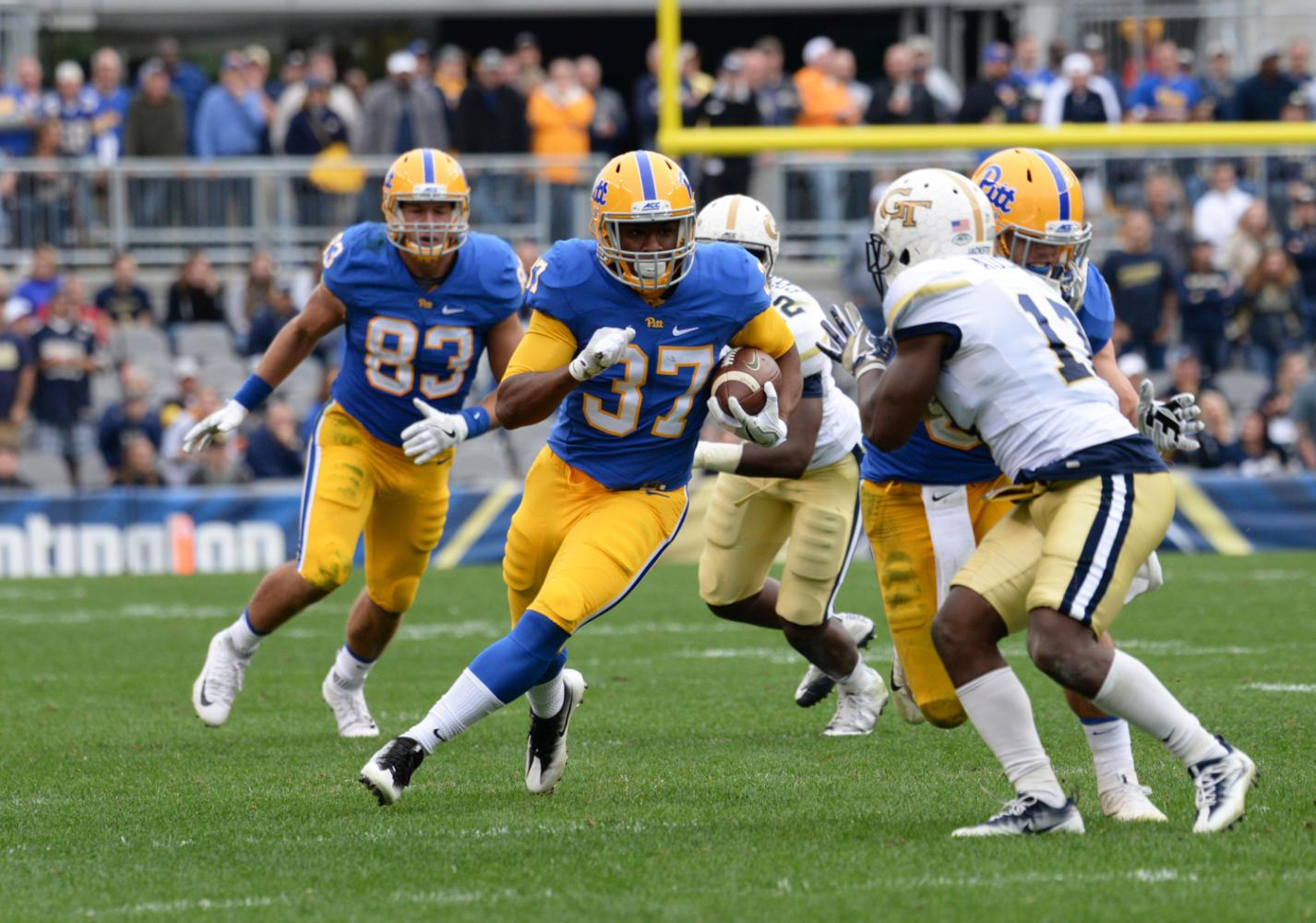 Qadree Ollison rushed 20 yards and made a touchdown in the game against Georgia Tech last season. (TPN file photo)