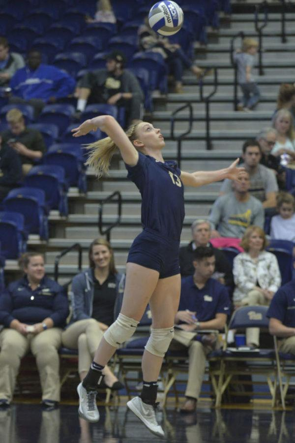 Redshirt+sophomore+Stephanie+Williams+still+leads+the+Panthers+in+kills+this+season+despite+inconsistent+performance.+%28TPN+file+photo%29