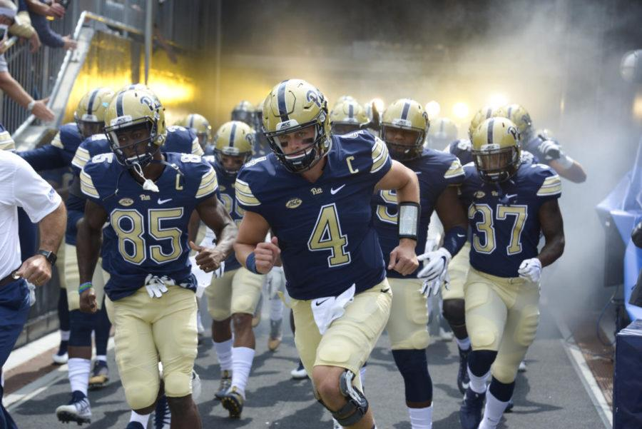 Quarterback Max Browne leads the Panthers out of the tunnel. (Photo by Wenhao Wu / Assistant Visual Editor)