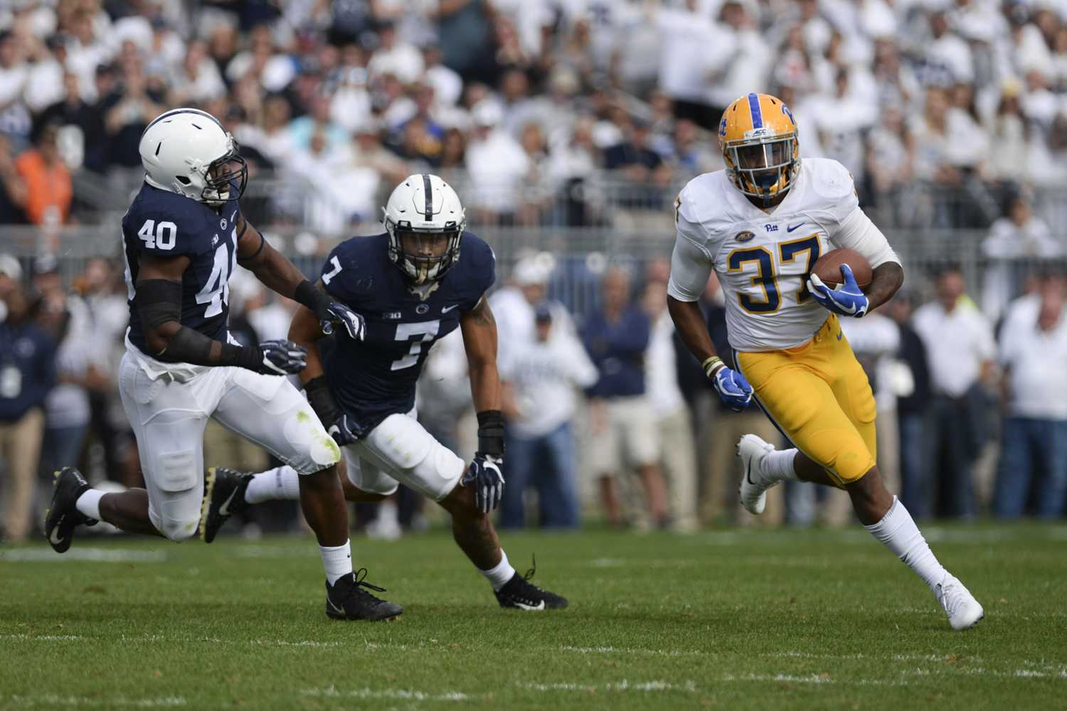 The Panthers' performance against the Penn State Nittany Lions in the Saturday, Sept. 9, game didn't have any effect on the team's ranking. (Photo by Anna Bongardino / Assistant Visual Editor)