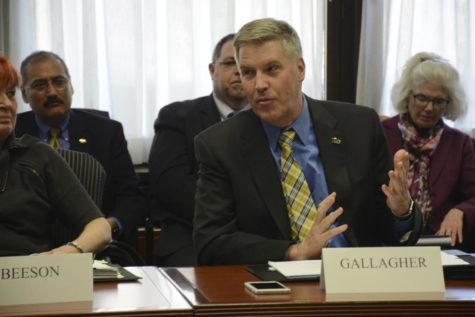 Gallagher discusses research and in-state students at trustees meeting