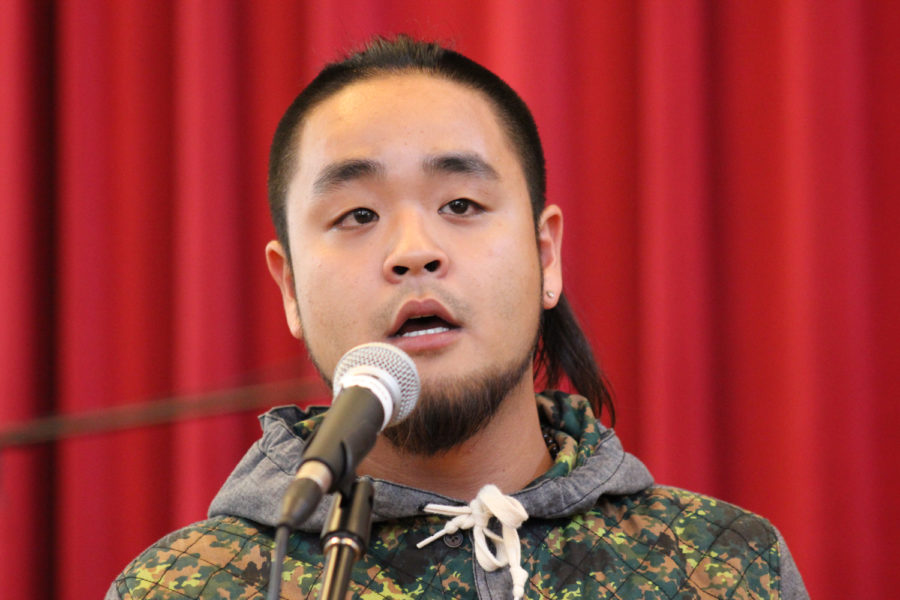 G Yamazawa, pictured in 2013, performed at Nordy's Place for about 70 students Saturday. (Photo by Elvert Barnes via Flickr)