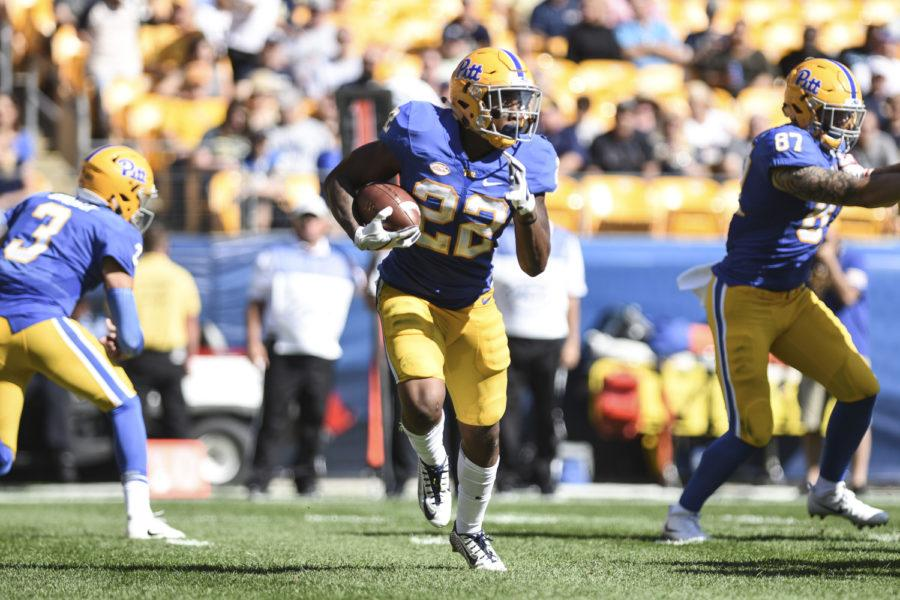 Pitt+running+back+Darrin+Hall+propelled+the+Panthers+to+a+24-17+victory+over+the+Duke+Blue+Devils.+%28Photo+by+Anna+Bongardino+%2F+Assistant+Visual+Editor%29