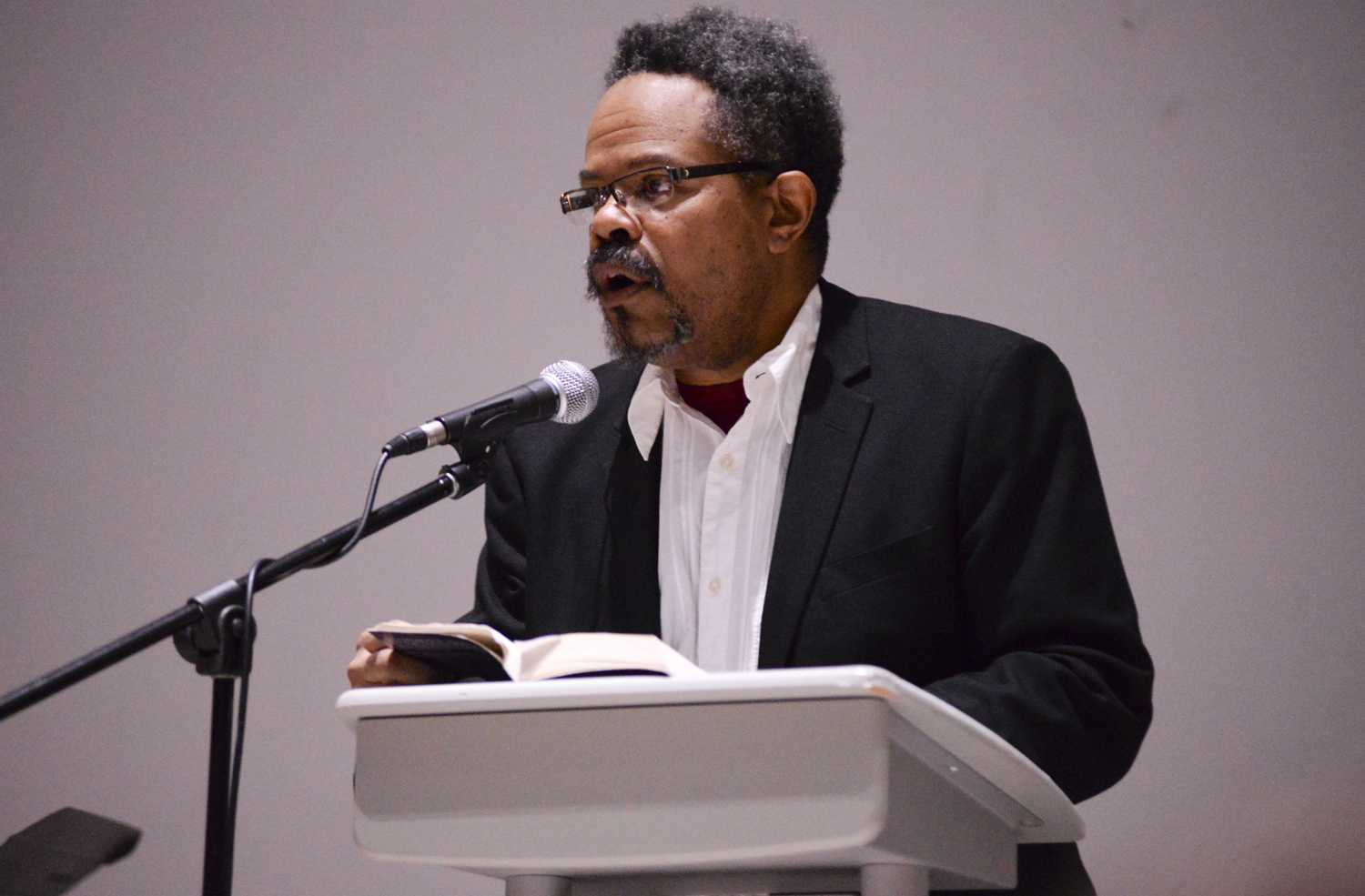 The event was hosted by the Center for African American Poetry and Politics. (Photo by Issi Glatts l Staff Photographer)
