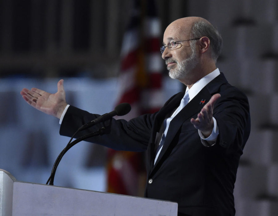 Pennsylvania+Gov.+Tom+Wolf+speaks+during+the+last+day+of+the+2016+Democratic+National+Convention+at+the+Wells+Fargo+Center+in+Philadelphia.+%28Clem+Murray%2FPhiladelphia+Inquirer%2FTNS%29