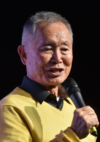 Star Trek actor George Takei speaks at an event on July 10, 2016 in Birmingham, England.  (Joe Giddens/PA Wire/Zuma Press/TNS)