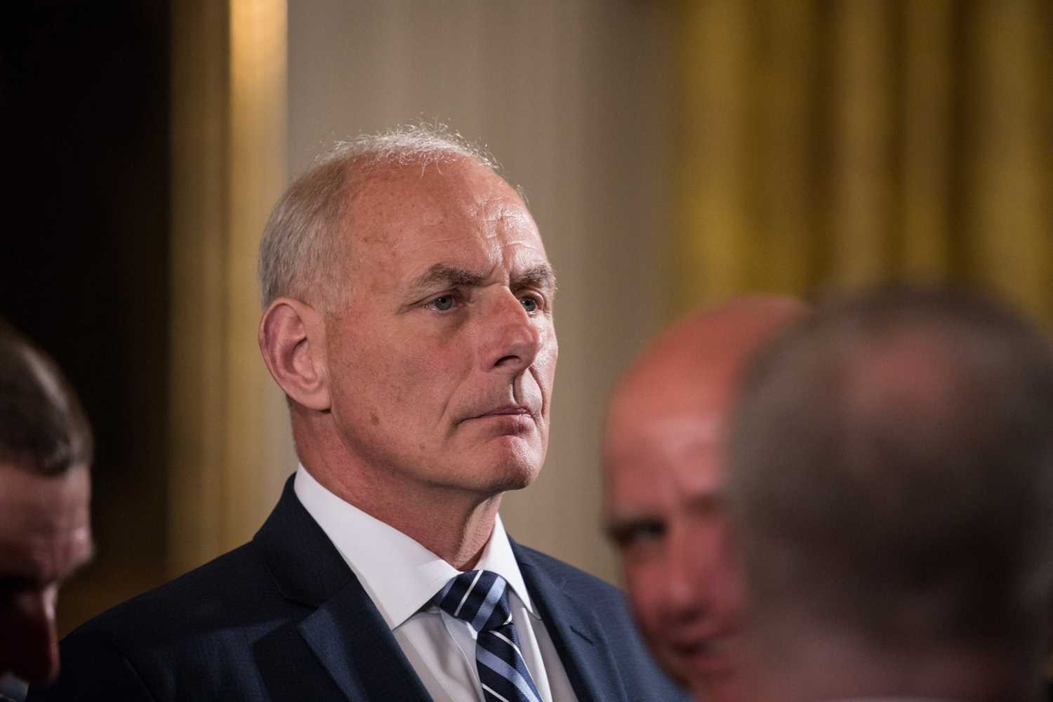 White House Chief of Staff John Kelly attends a Medal of Honor ceremony in the East Room of the White House on July 31. (Cheriss May/Sipa USA/TNS)
