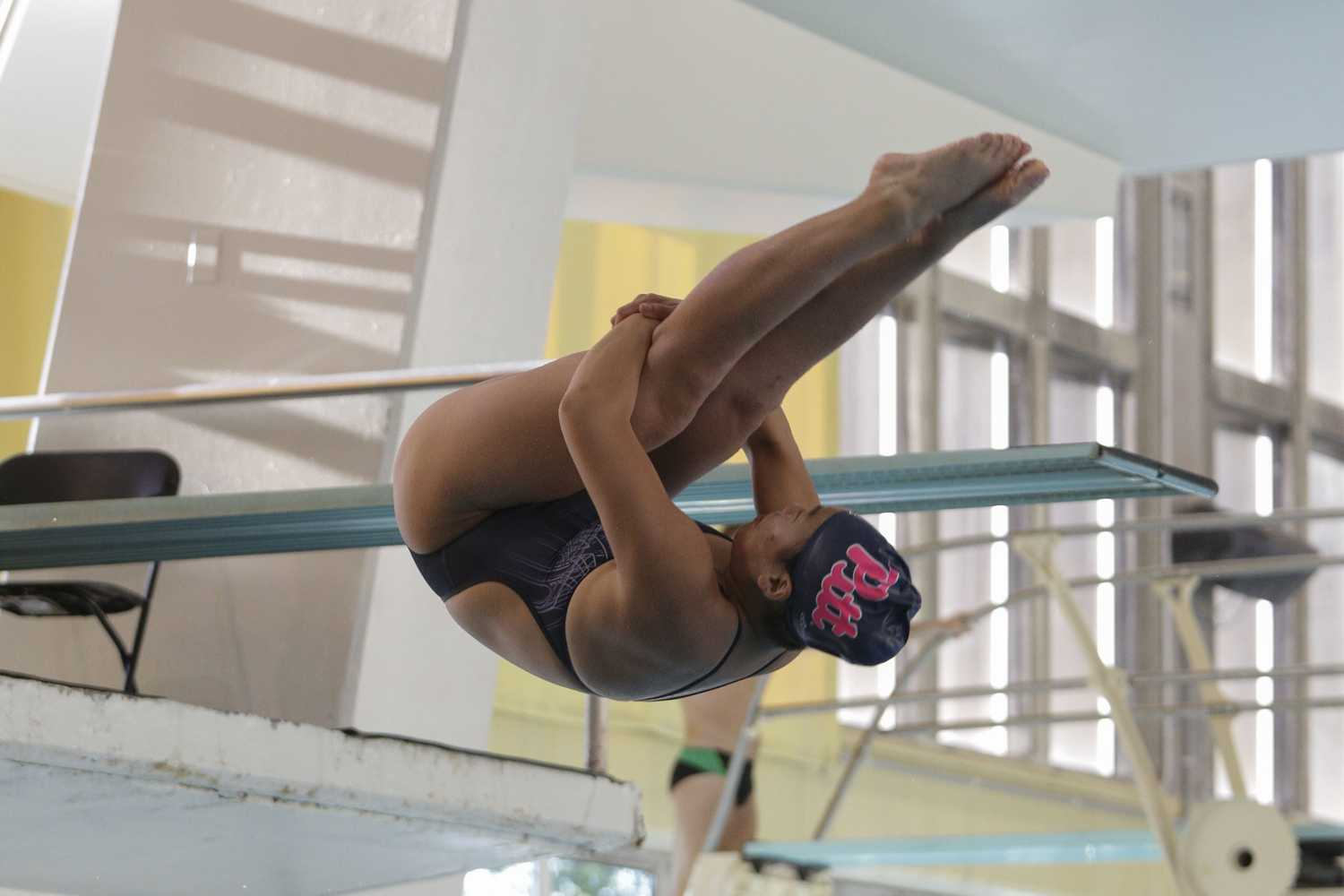 Pitt beat Miami, Michigan State and James Madison this weekend during the Pink the Pool meet at Trees Pool. (Photo by Thomas Yang | Senior Staff Photographer)