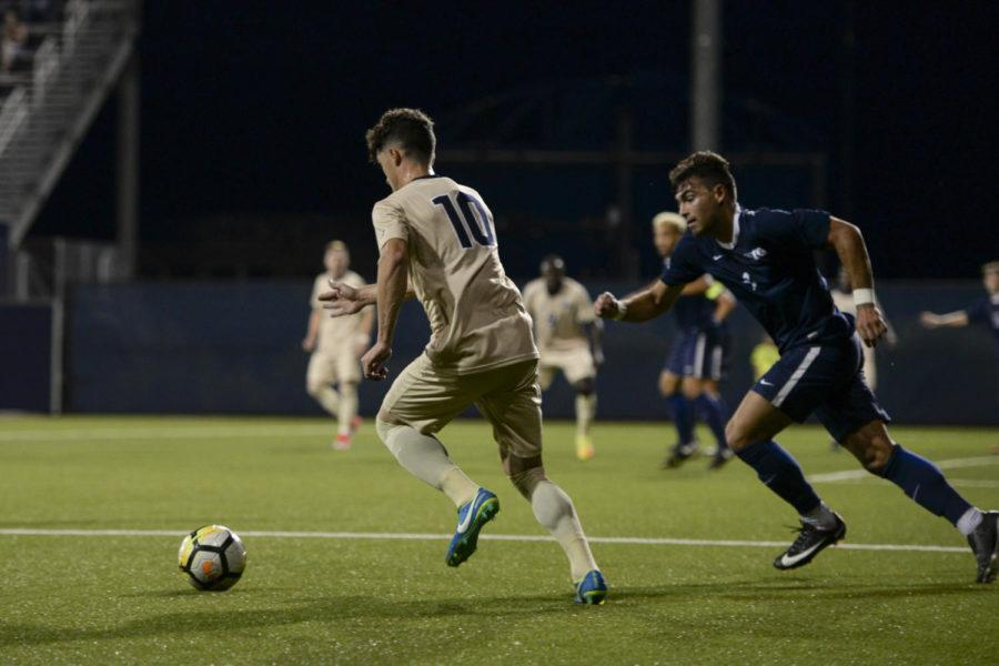 Marcony+Pimentel+scored+a+goal+in+Pitt+men%27s+soccer%E2%80%99s+win+over+Penn+State+in+overtime+Tuesday+night.+%28Photo+by+Betty+Shen+%7C+Staff+Photographer%29
