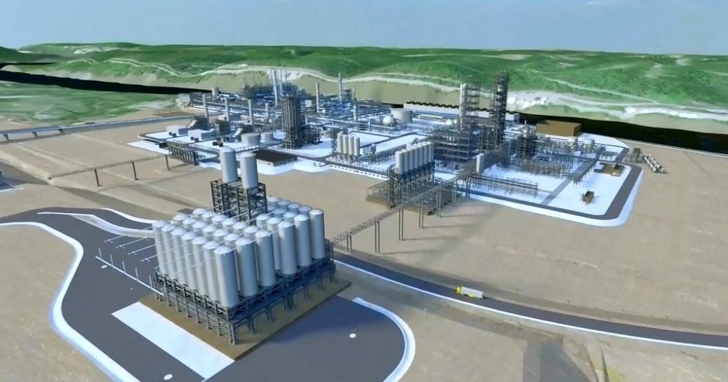A rendering of Shell's cracker plant in Beaver, Pennsylvania. (Photo courtesy of Shell)