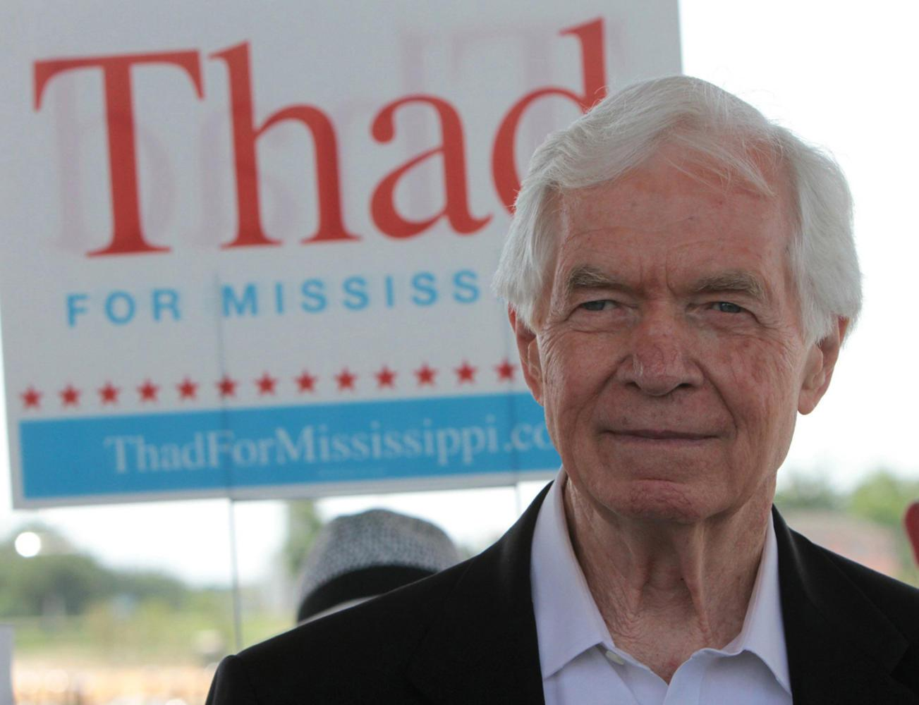 Sen. Thad Cochran, R-Miss., attends a political rally in Pass Christian, Mississippi, in 2014. (John Fitzhugh/Biloxi Sun Herald/MCT)