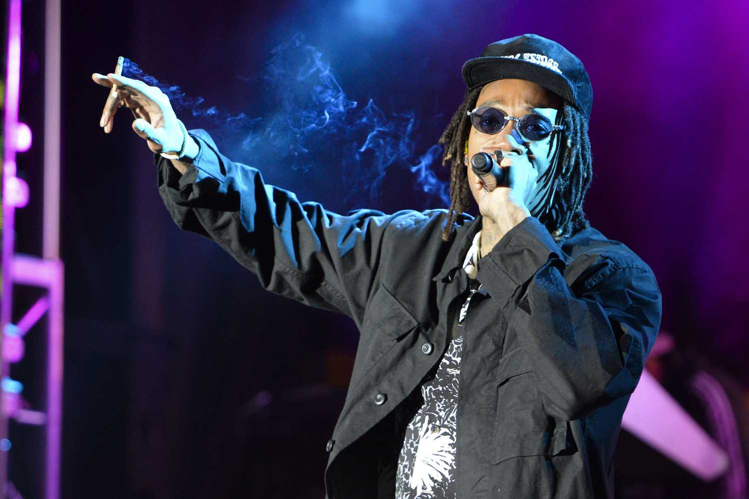 Pittsburgh native Wiz Khalifa returns to the area to perform at Thrival Festival in Swissvale, Pennsylvania. (Photo by Issi Glatts | Staff Photographer)