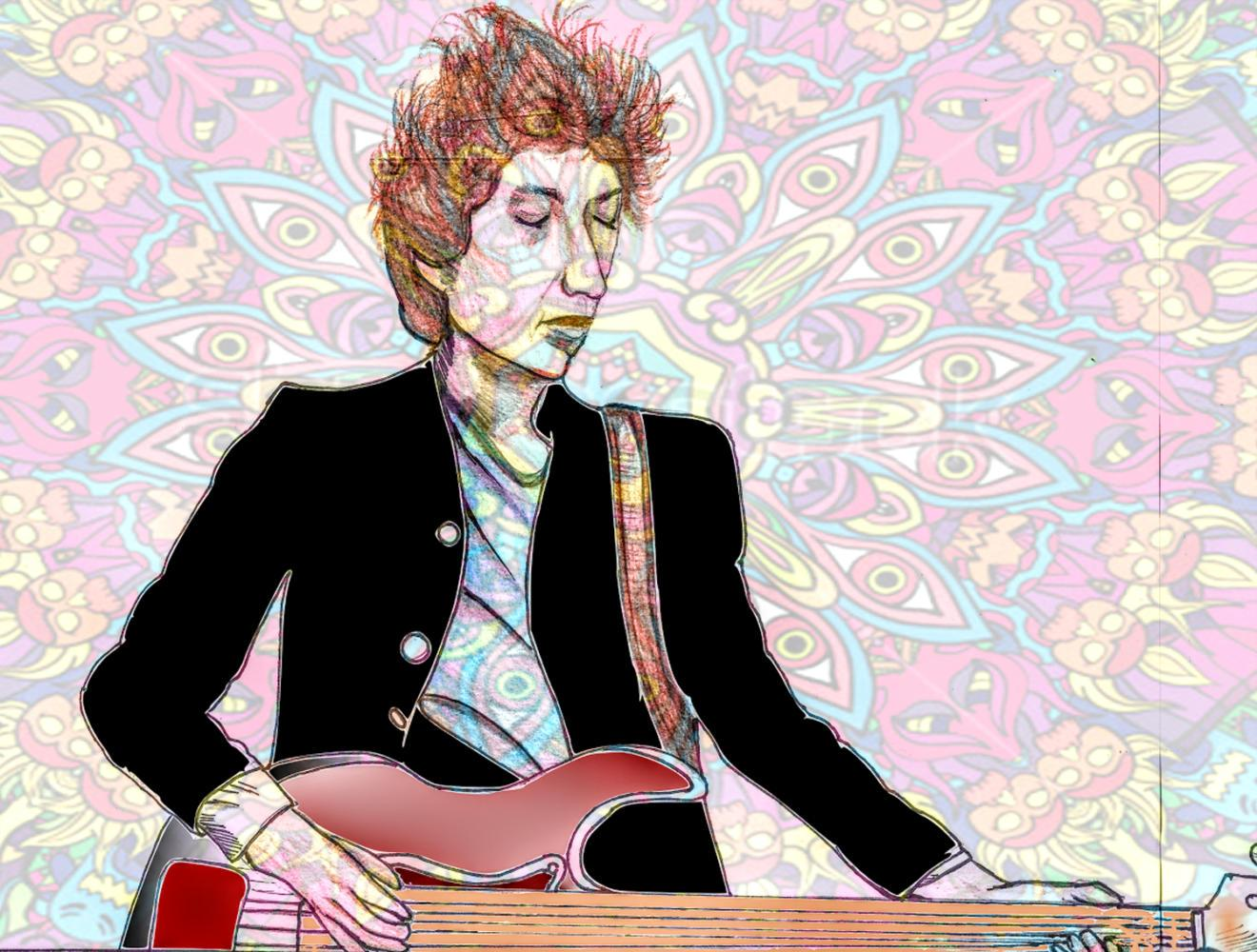 Rock legend Bob Dylan serenaded fans at Heinz Hall Nov. 6. (Illustration by Abby Katz | Staff Illustrator)