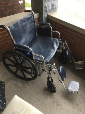 """The first piece of """"furniture"""" Owen Hipwell got for his new home on Juliet Street was an old wheelchair found in the back of his basement. (Photo courtesy of Jaime Weinreb)"""