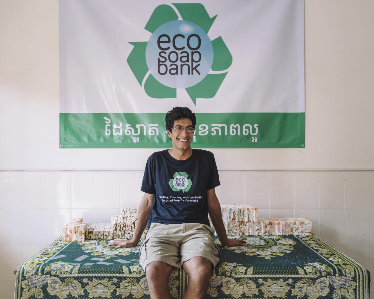 Pitt alum Samir Lakhani founded the nonprofit organization, Eco-Soap Bank during his senior year at Pitt in 2014. (Photo courtesy of Samir Lakhani)