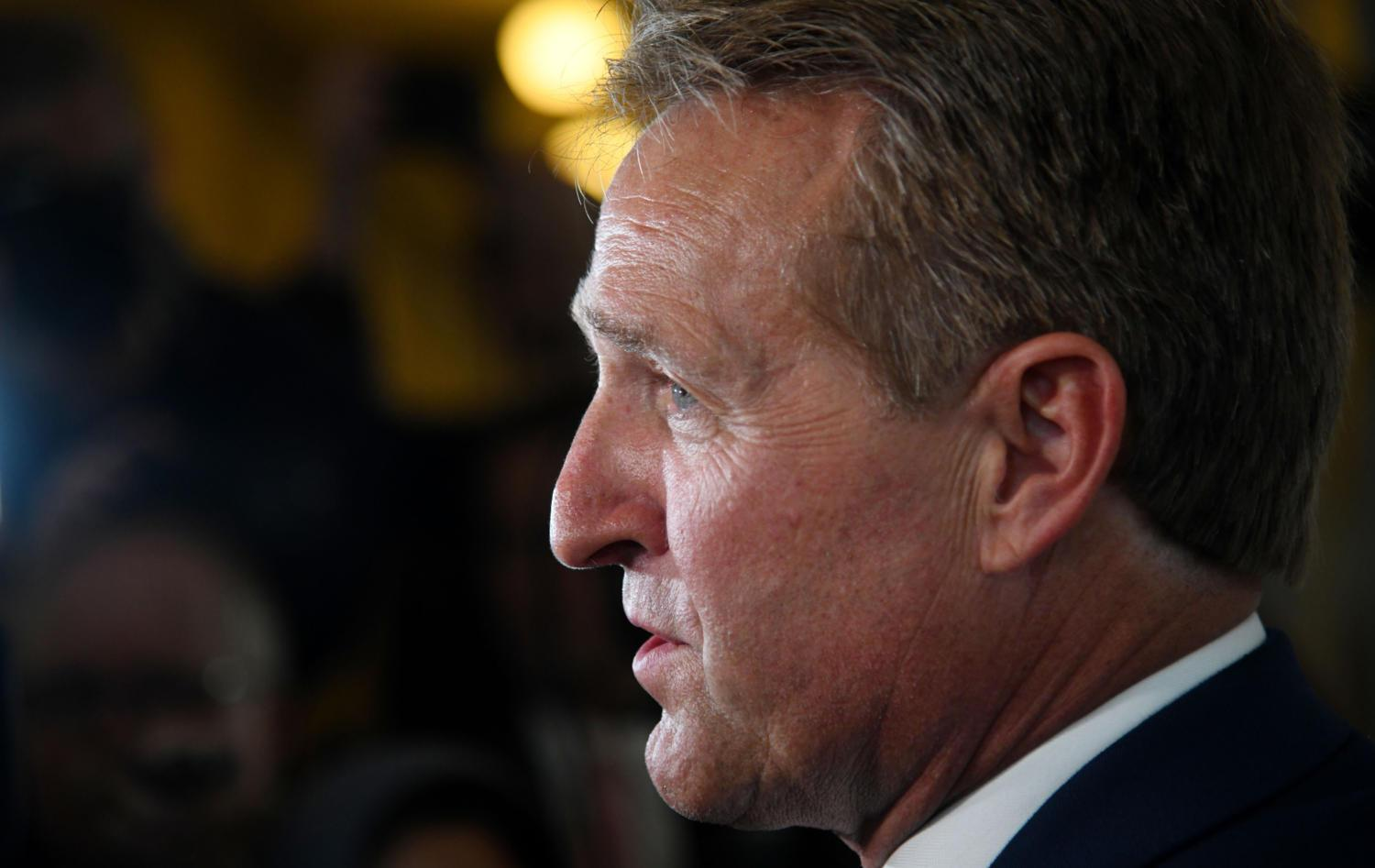 Sen. Jeff Flake (R-Ariz.) will not run for re-election next cycle amid discord with President Donald Trump.  (Olivier Douliery/ Abaca Press/TNS)