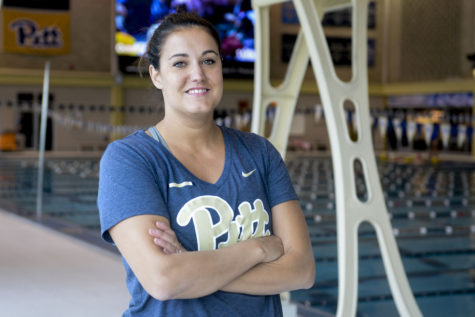 Katie Hazelton was hired as the new head coach of Pitt Diving in June. (Photo by Jordan Mondell | Contributing Editor)
