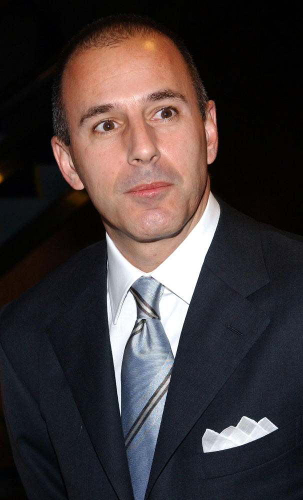 """TV anchor Matt Lauer (NBC's """"Today"""" show) is photographed as he arrives at Audrey Hepburn: The Beauty Of Compassion, an exhibition and auction event to benefit the UNICEF education program held at Sotheby's in New York Monday, April 21, 2003. (Nicolas Khayat/Abaca Press/TNS)"""
