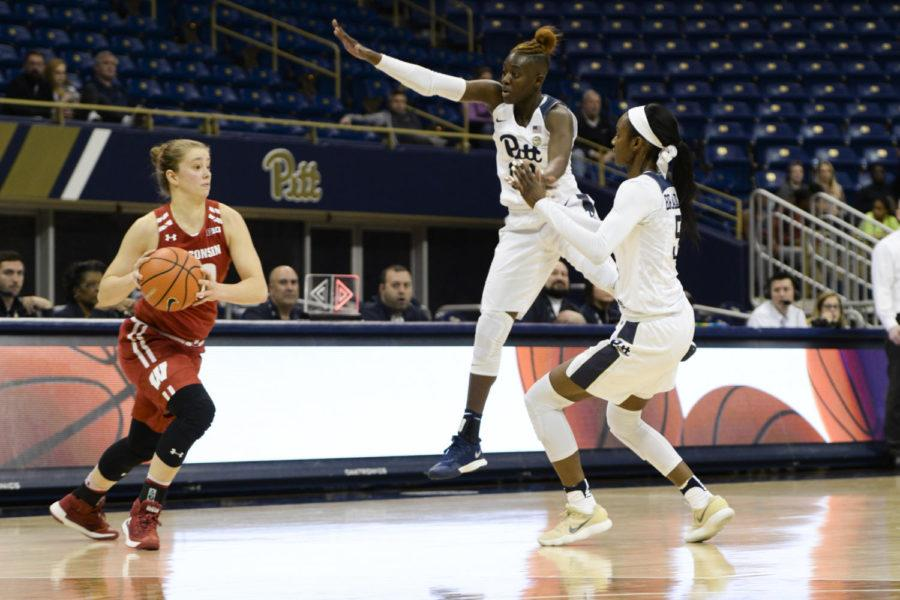Pitt+women%27s+basketball+fell+to+Wisconsin%2C+58-57%2C+at+the+Peterson+Events+Center+Wednesday.+%28Photo+by+Sarah+Cutshall+%7C+Staff+Photographer%29