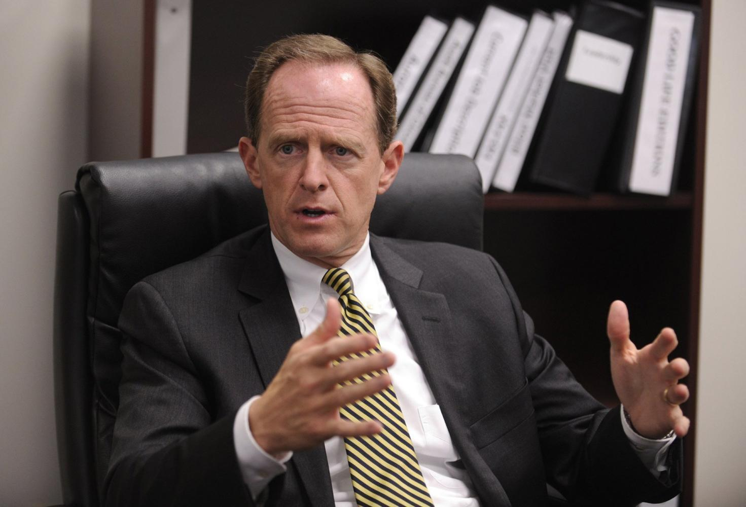 Sen. Pat Toomey, R-Pa., added an amendment to the GOP tax bill which would have exempted colleges that don't receive federal funding. The amendment didn't pass. (Nabil K. Mark/Centre Daily Times/MCT)