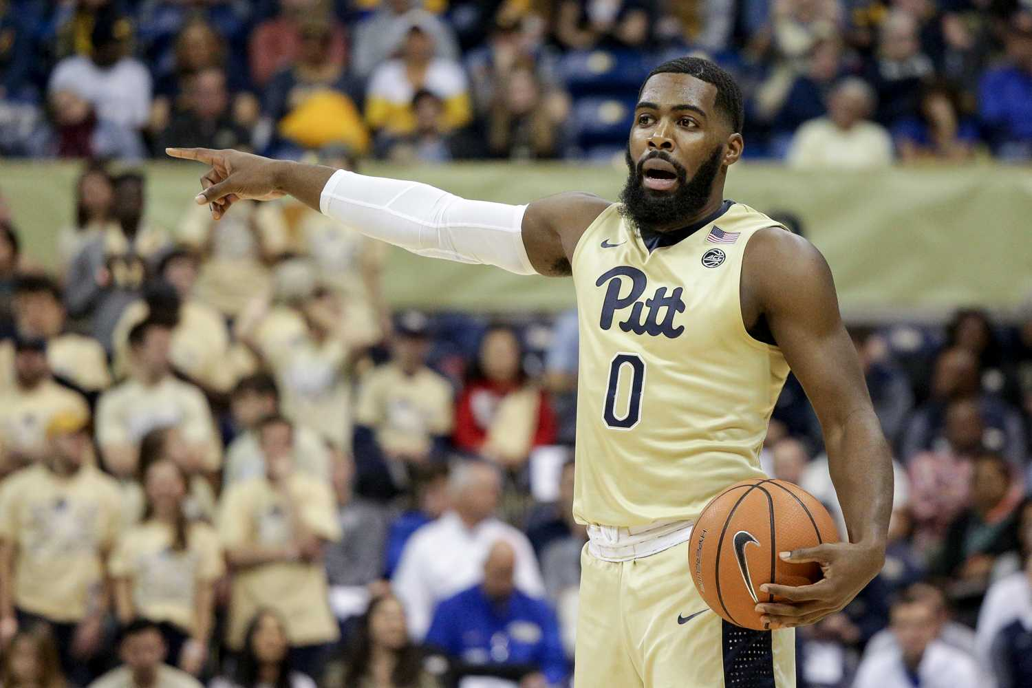 Guard Jared Wilson-Frame scored 19 points during Pitt's win over McNeese State Saturday. (Photo by Thomas Yang / Senior Staff Photographer)