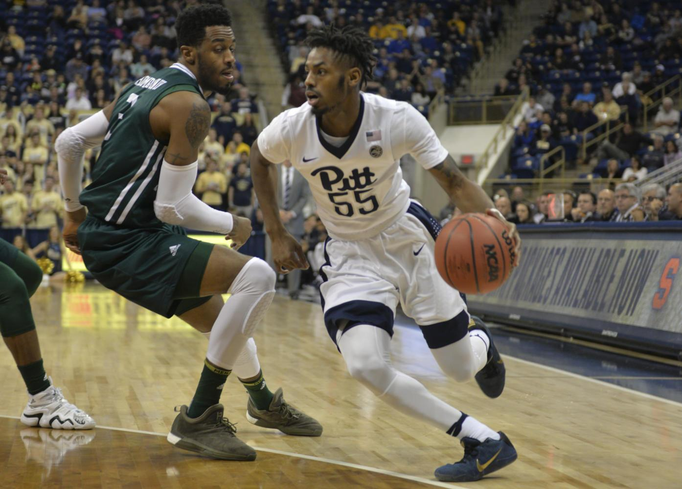 Redshirt senior guard Jonathan Milligan saved the Panthers from defeat as he scored to take the lead with 51.7 seconds remaining in the game. (TPN File Photo)