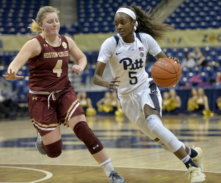 Kauai Bradley led Pitt with 15 points during Sunday's loss to Penn State. (Photo by John Hamilton / Managing Editor)