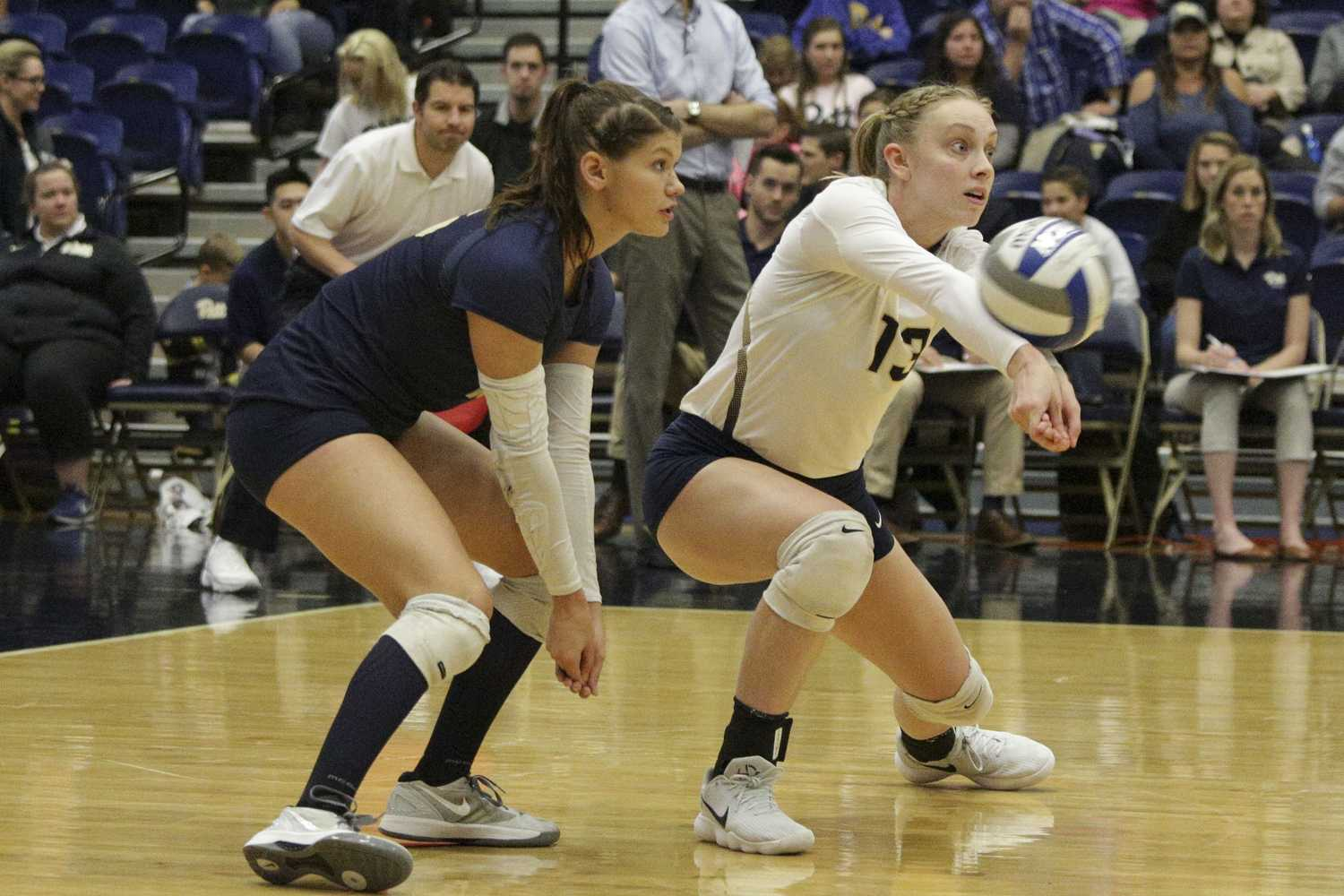 Pitt volleyball lost to No. 1 Penn State in the second round of the NCAA Tournament Saturday. (Photo by Thomas Yang / Senior Staff Photographer)