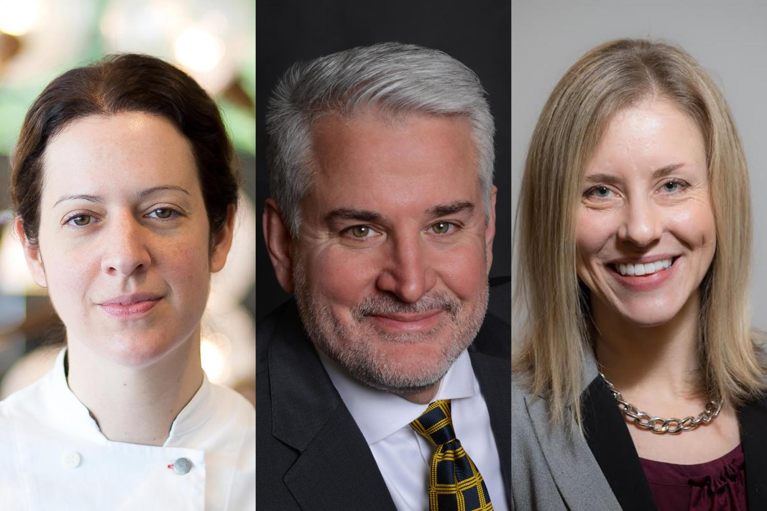 Sonja Finn, Marty Healey and Erika Strassburger (from left) have all announced campaigns for the District 8 City Council seat.