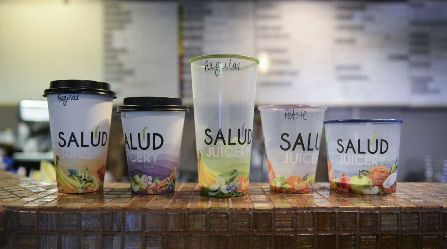 Salud Juicery has everything from nourishing juices and smoothies, to hot drinks and wellness shots, and fresh, blended acai bowls. (Photo by Issi Glatts | Assistant Visual Editor)