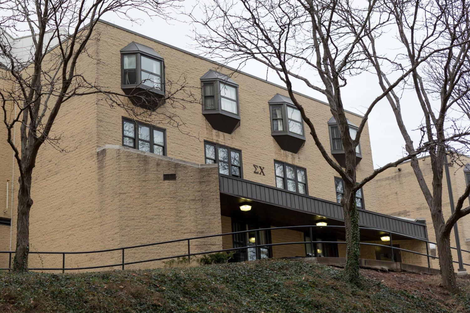 Pitt's Sigma Chi chapter has been suspended after an alcohol incident left a student hospitalized. (Photo by Thomas Yang / Visual Editor)