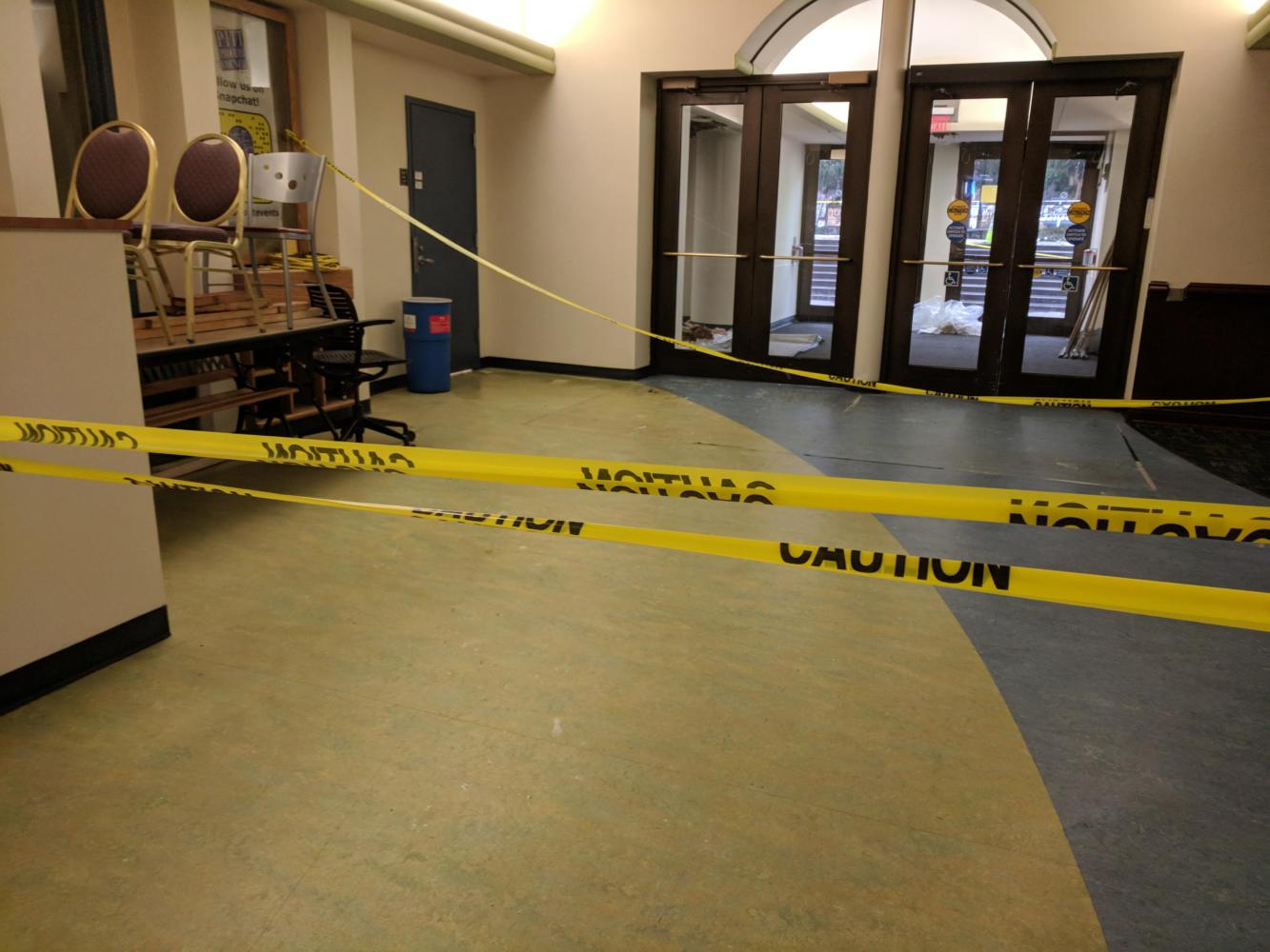 Another waterline issue plagued the William Pitt Union Monday. (Photo by John Hamilton | Managing Editor)