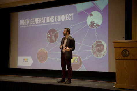 Bridgeworks speaker Scott Zimmer discussed generational diversity at Thursday's Social Justice Symposium hosted by Pitt Student Affairs. (Photo courtesy of Pitt Student Affairs)