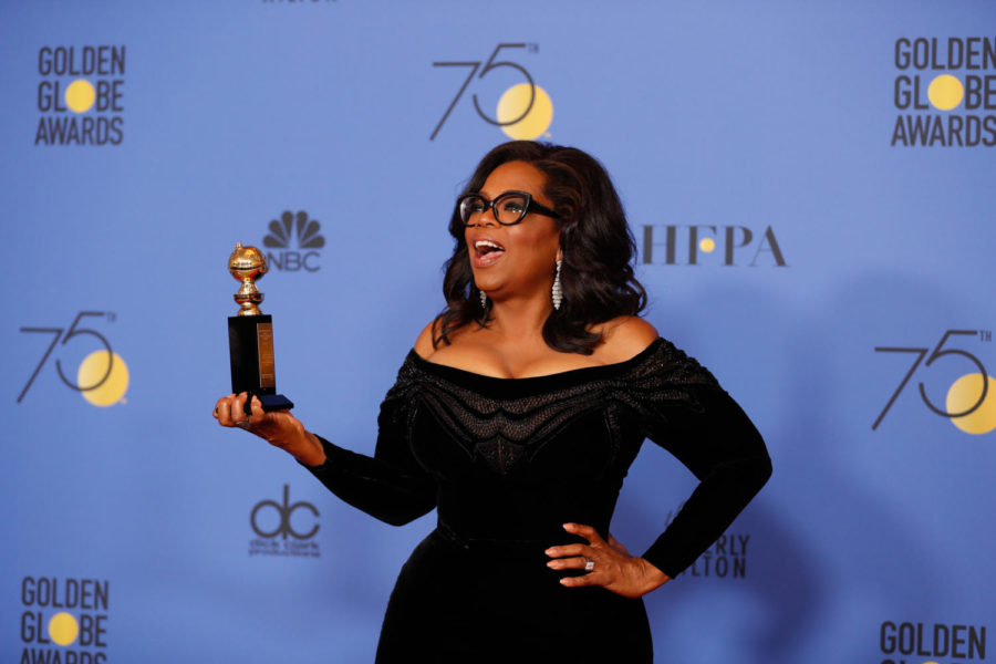 Oprah+Winfrey+stands+backstage+at+the+75th+Annual+Golden+Globes+on+Sunday.+%28Allen+J.+Schaben%2FLos+Angeles+Times%2FTNS%29