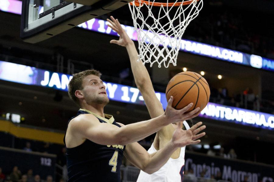 Pitt announced senior forward Ryan Luther's (4) foot injury will prevent him from playing another game this season. (Photo by Thomas Yang | Visual Editor)