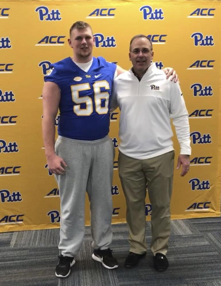 Jake Kradel, a newly recruited offensive guard, stated the closeness to his home, admiration for Pat Narduzzi and Pitt's academic reputation were the main factors in his decision to commit to Pitt. (Photo courtesy of Jake Kradel)