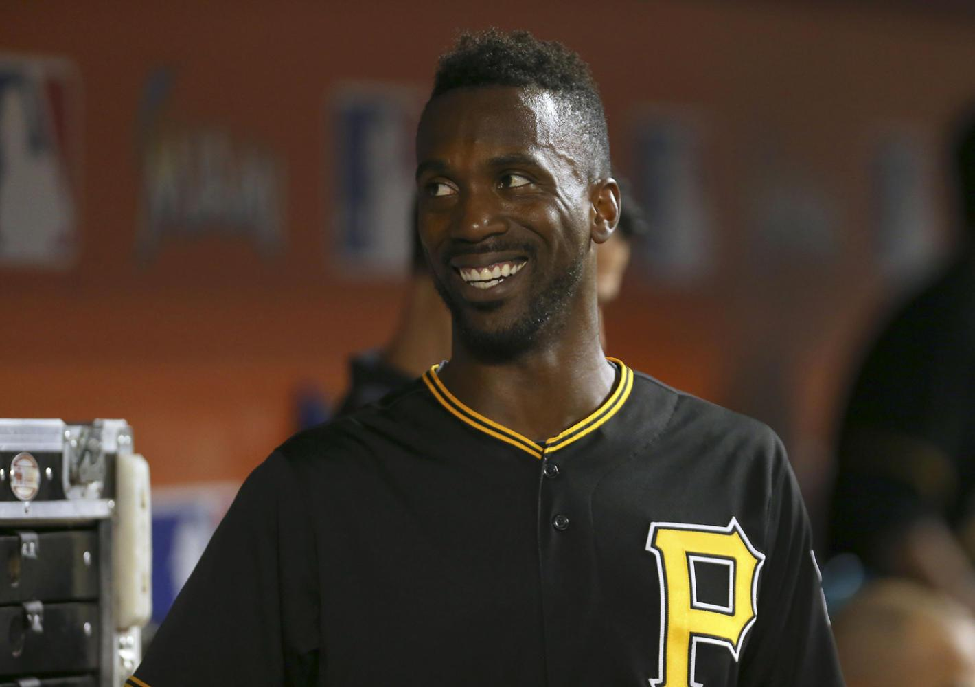 The Pittsburgh Pirates' Andrew McCutchen shown on Aug. 26, 2015, at Marlins Park in Miami. The center fielder was traded to the Giants on Monday. (David Santiago/El Nuevo Herald/TNS)