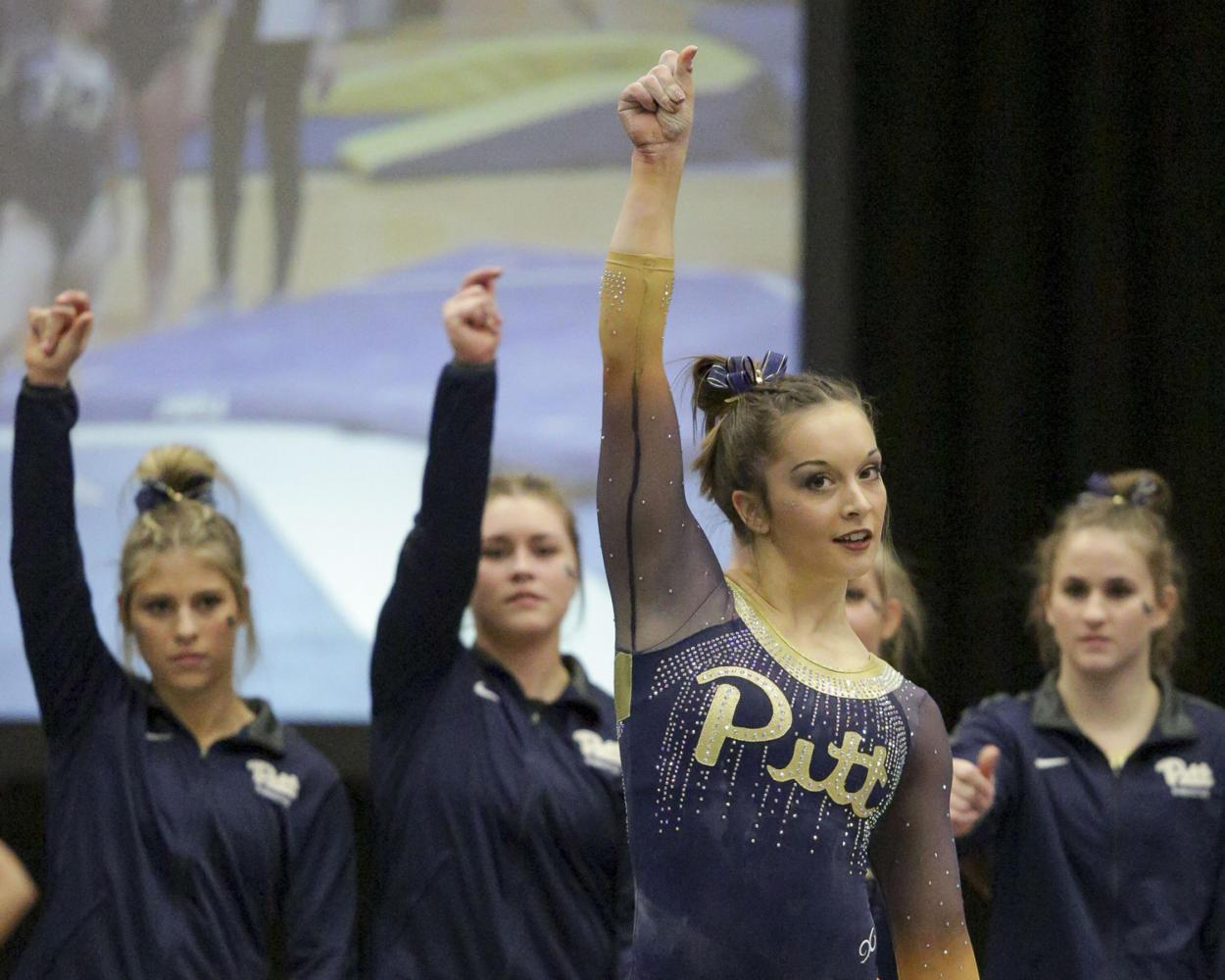 Despite it being her first collegiate meet, first year Haley Brechwald gave an outstanding performance in the gymnastics home meet against Oregon State last Saturday night. (Photo by Thomas Yang | Visual Editor)