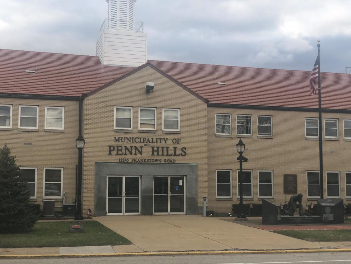 The Penn Hills Police Department, where 12 students reported alleged hazing to law enforcement Monday. (Photo courtesy of WTAE)
