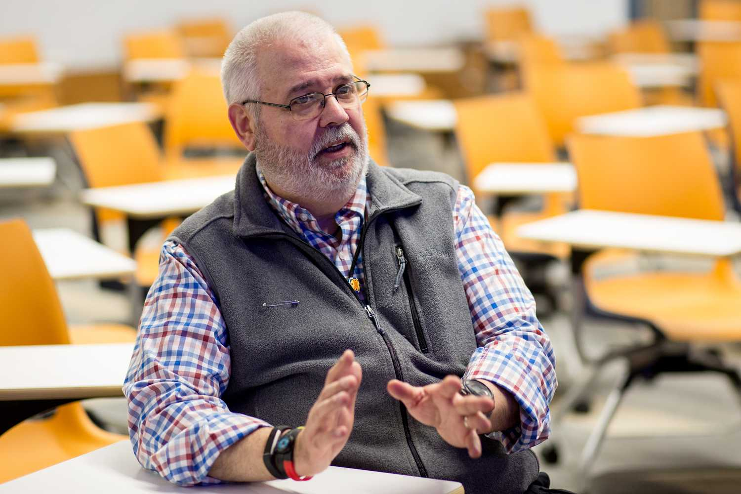 Pitt professor David Korman says some people are quick to criticize the judicial system for not putting enough emphasis on victims' rights, while not accounting for the rights of the accused. (Photo by Thomas Yang | Visual Editor)