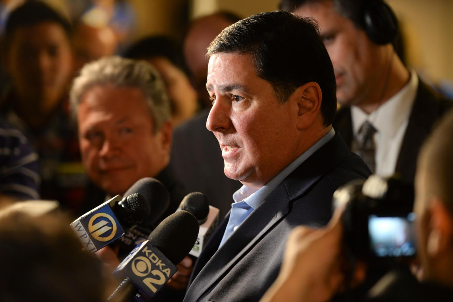 Mayor Bill Peduto is optimistic about the possibilities Amazon could bring to Pittsburgh. (Photo by Anna Bongardino | Senior Staff Photographer)