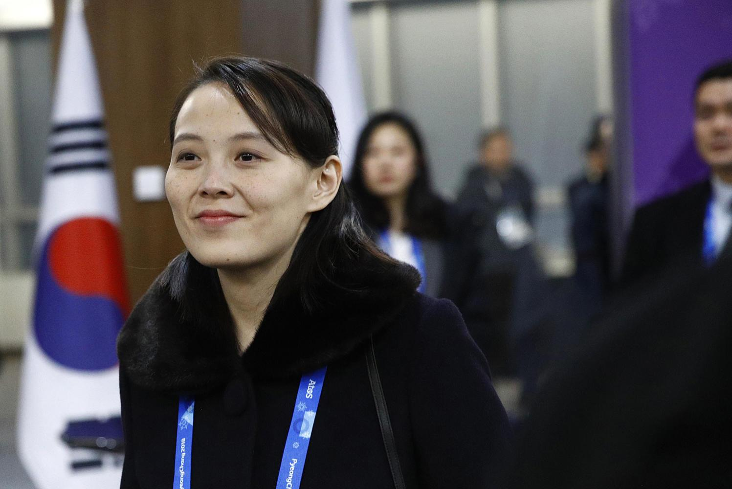 Kim Yo Jong, sister of North Korean leader Kim Jong Un, arrives at the opening ceremony of the 2018 Winter Olympics on Friday in Pyeongchang, South Korea. (Patrick Semansky/Prensa Internacional/Zuma Press/TNS)