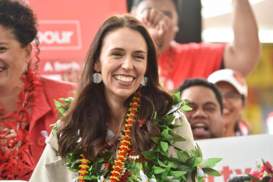 Labour Party leader Jacinda Ardern at her party's Pacific launch at Mangere in South Auckland Aug. 26, 2017. (Shirley Kwok/Pacific Press/Sipa USA/TNS)