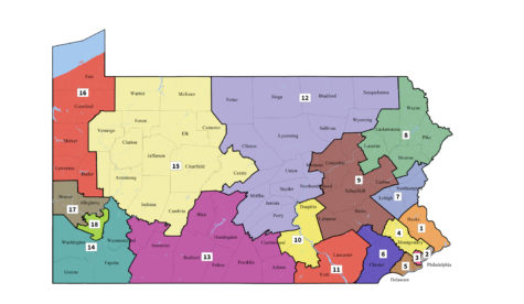 The Pennsylvania Supreme Court redrew the state's congressional maps after finding the GOP-drawn map unconstitutional. (Image via Wikimedia Commons)